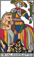 Tarot card - man riding horse