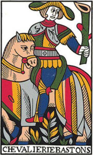 Tarot card - man riding horse
