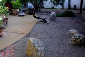 Stone garden outside the zendo at Manzanita.